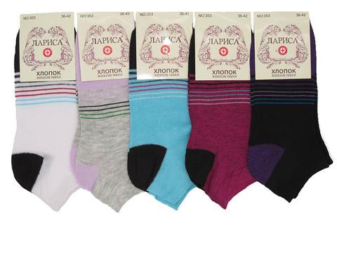353 носки женские 36-42 (12 шт.) цветные