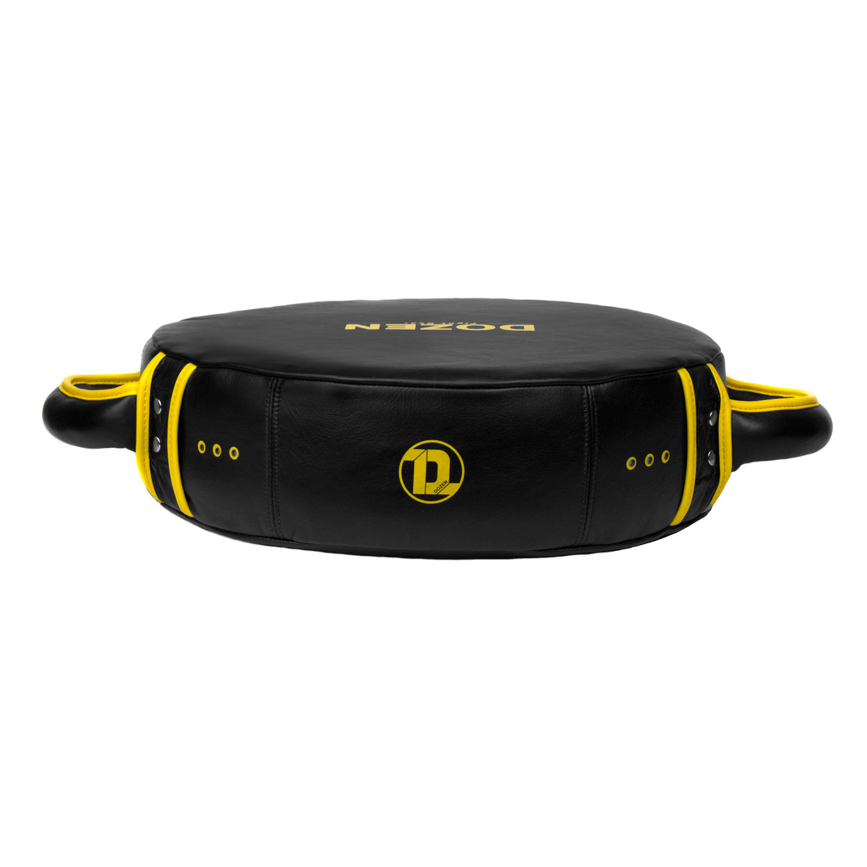 Макивара круглая Dozen Monochrome черно-желтая вид сверху