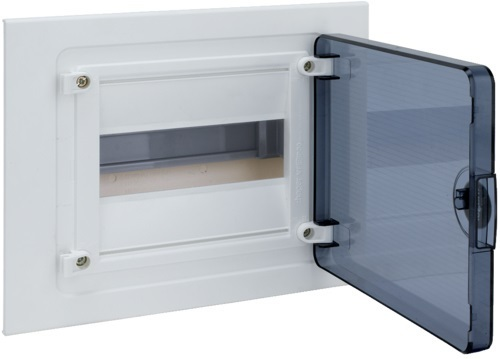 Щит скрытой установки, 8М, с прозрачной дверцей