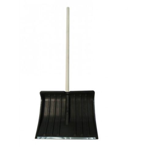 Лопата для уборки снега ковш пластиковый (50x39 см) с черенком