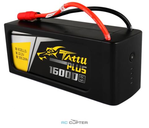 Аккумуляторная батарея Gens Ace TATTU Plus 16000mAh 22.2V 15C 6S1P Lipo Battery Pack для мощных и больших коптеров