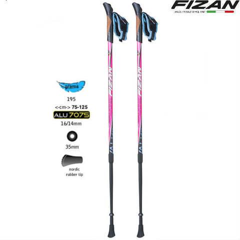 Скандинавские палки Fizan NW Speed Pink Edition Италия