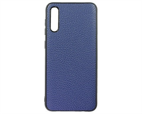 Чехол для Samsung Galaxy A50(A505F)/A30s(A307F)/A50s(A507F) - 2019 экокожа | синий