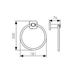 Полотенцедержатель круглый KAISER Vera BR KH-4701 схема