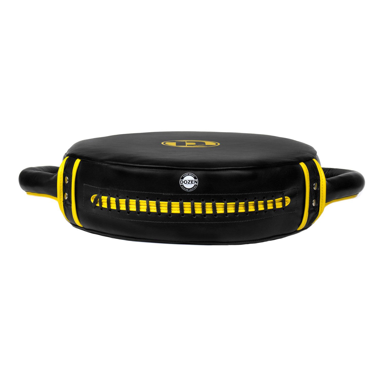 Макивара круглая Dozen Monochrome черно-желтая вид снизу