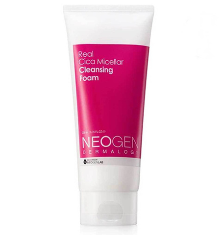 Neogen Real Cica Micellar Cleansing Foam увлажняющая мицеллярная пенка c центеллой aзиатской и керамидами