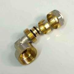 Фитинг для металлопластиковых труб угол обжимной