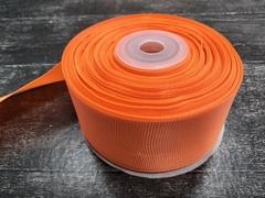 Лента репсовая 4см*25ярд (Ярко-оранжевый №142)