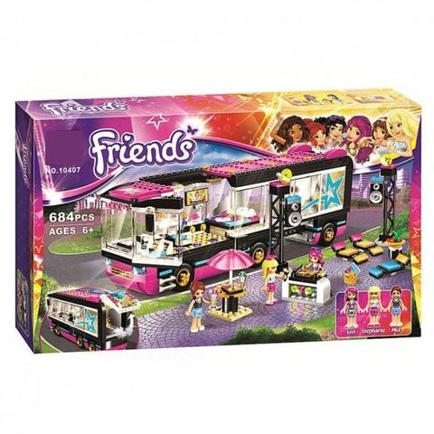 Конструктор Friends Френдс Подружки Автобус поп-звезды / Автобус для гастролей 10407, 684 дет.