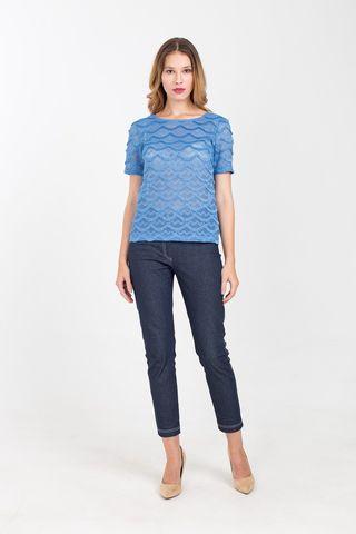 Фото зауженные эластичные брюки под джинсу - Брюки А474-595 (1)