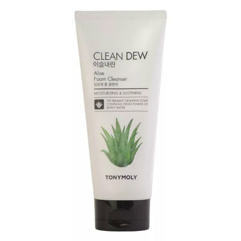 Tony Moly Clean Dew Foam Cleanser Aloe пенка c экстрактом алоэ
