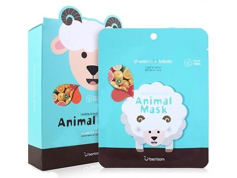 Маска с витамином С и арбутином Berrisom Animal Mask Series Sheep
