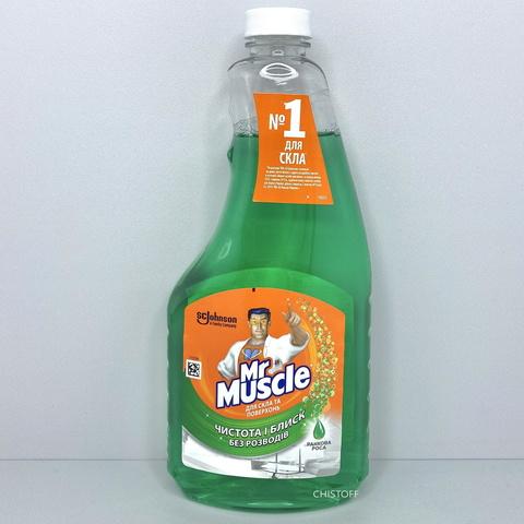 Средство для мытья стекла Mr Muscle со спиртом 500 мл запаска