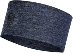 Шерстяная повязка на голову Buff Headband Midweight Wool Night Blue Melange