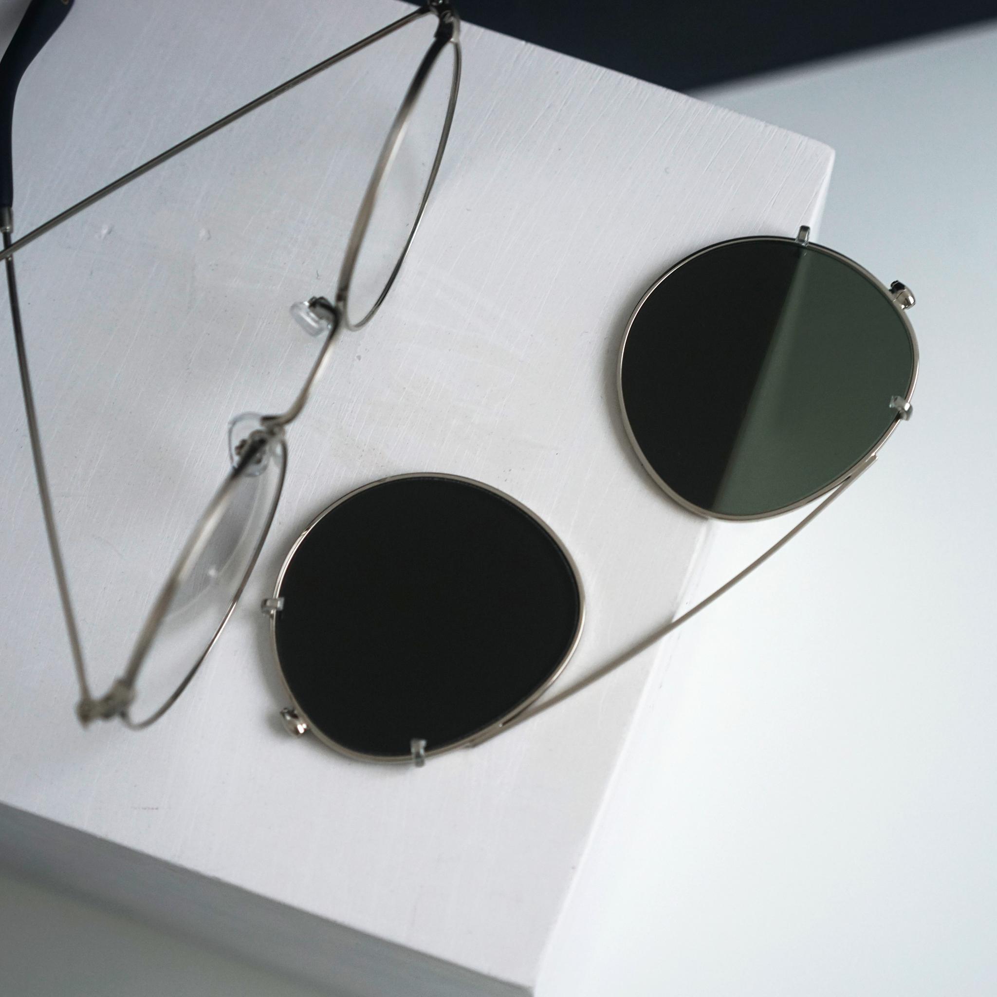 Inventery Clip-On Sunglasses Chrome