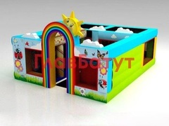 Надувной детский игровой комплекс 7 х 5,4 х 3,7 метров