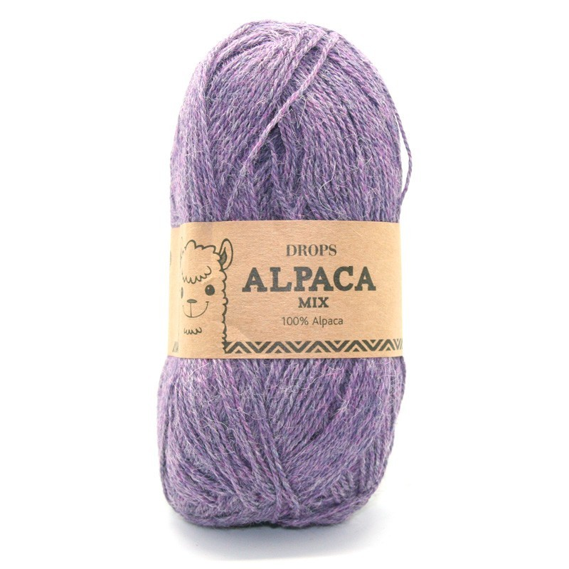 Пряжа Drops Alpaca 4434 фиолетовый меланж