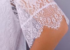 Квитка. Гипюровая блуза size plus. Белый.