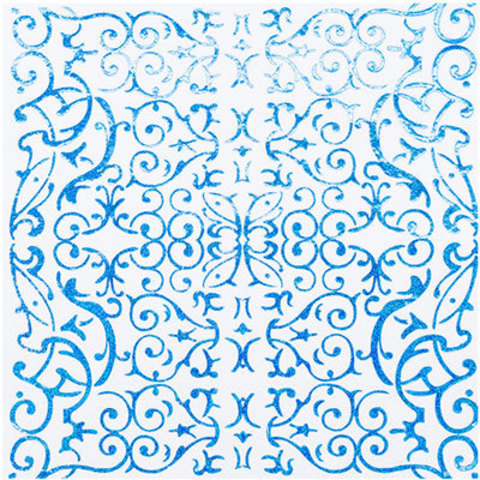 Салфетки голографические голубые, 6 шт