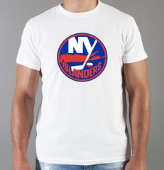 Футболка с принтом НХЛ Нью-Йорк Айлендерс (NHL New York Islanders) белая 001