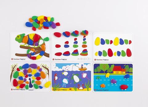 Радужные камешки. Набор с карточками заданий A4