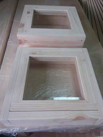 Окно 40х40мм, коробка 65мм