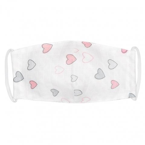 Марлевая маска Adam Stork Pink Hearts