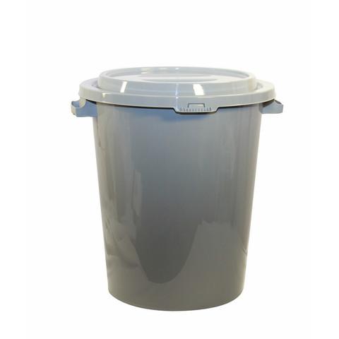 Бак для отходов М-пластика 90 л пластиковый серый