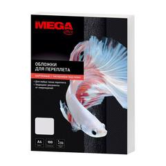Обложки для переплета картонные Promega office А4 230 г/кв.м белые текстура кожа (100 штук в упаковке)