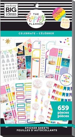 Блокнот со стикерами для ежедневника Create 365 Happy Planner Sticker Value Pack-BIG - Celebrate, 659 шт