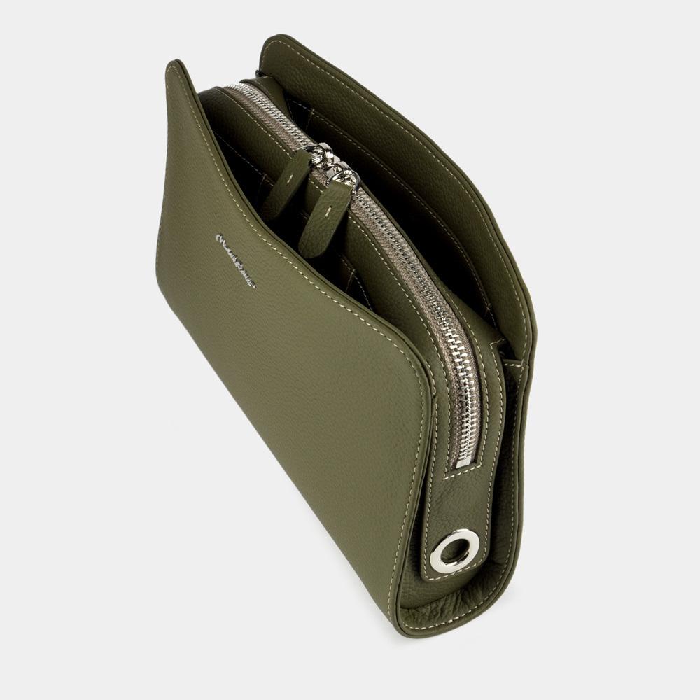 Женская сумка Emilie Easy из натуральной кожи теленка, зеленого цвета