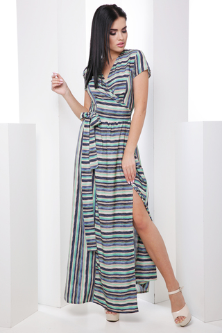 Модное платье с запахом