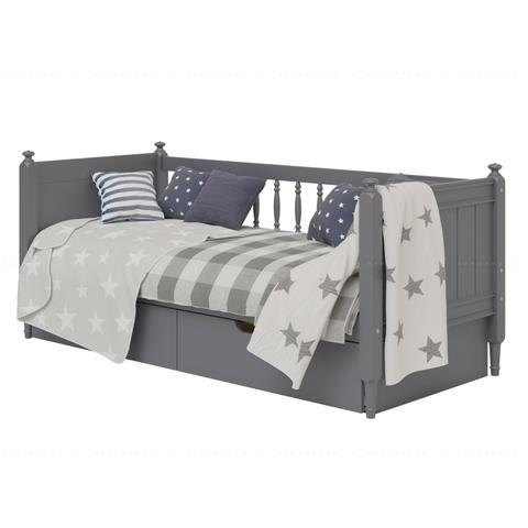 Кровать-софа с тремя спинками Diamond. Цвет серый (ral 7024 графит). Ящики под кровать приобретаются отдельно (опция)