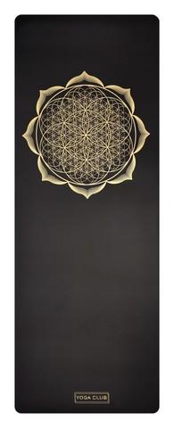 Каучуковый йога коврик Flower Gold Pro 185*68*4,5 см