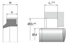 Грязесъемник AM43 | 25 X 35 X 7 / MM | 90 NBR NB903411 Black