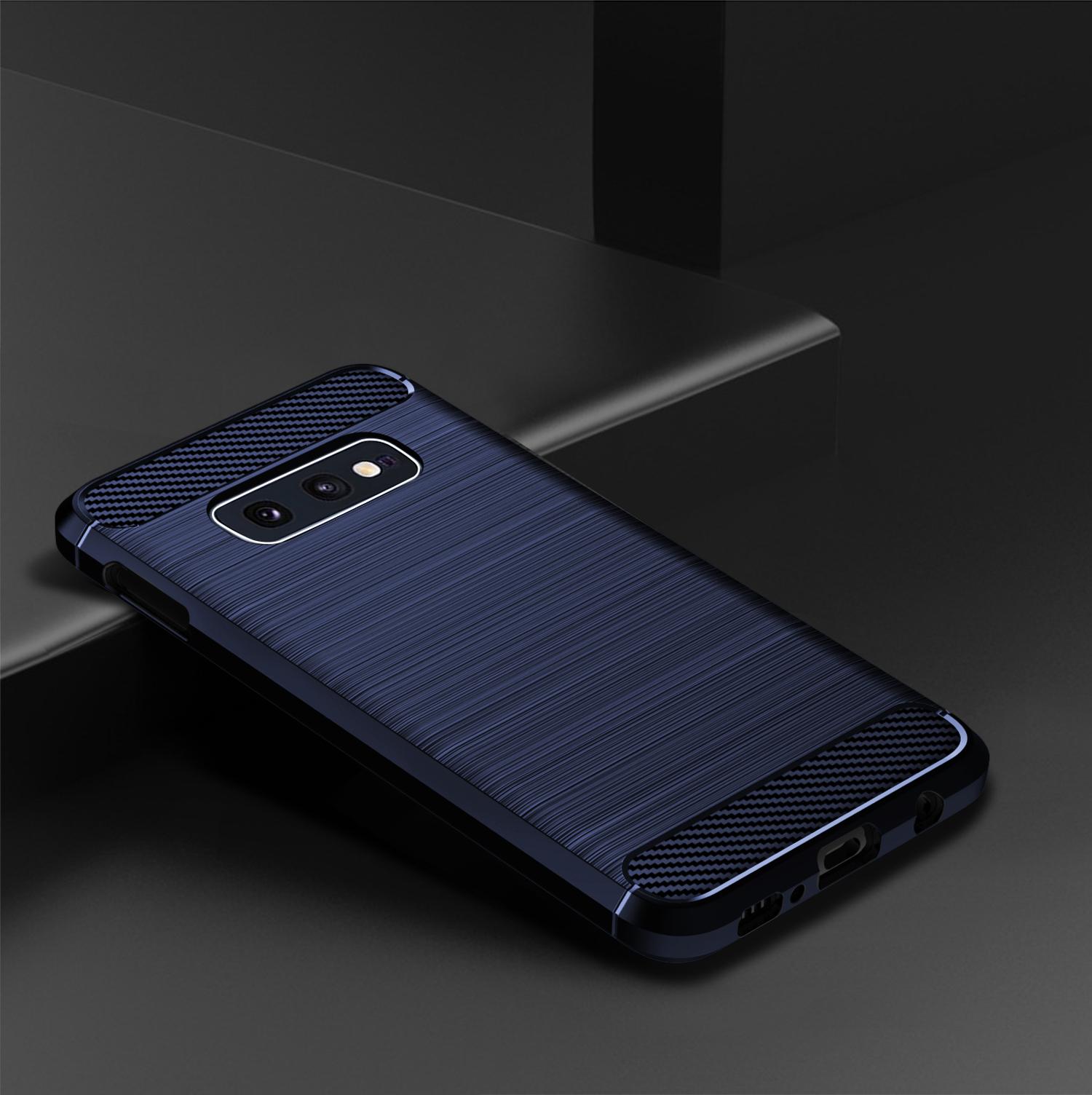 Чехол для Samsung Galaxy S10e цвет Blue (синий), серия Carbon от Caseport