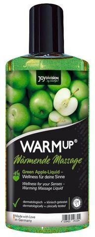 Массажное масло WARMup Green Apple с ароматом яблока - 150 мл.