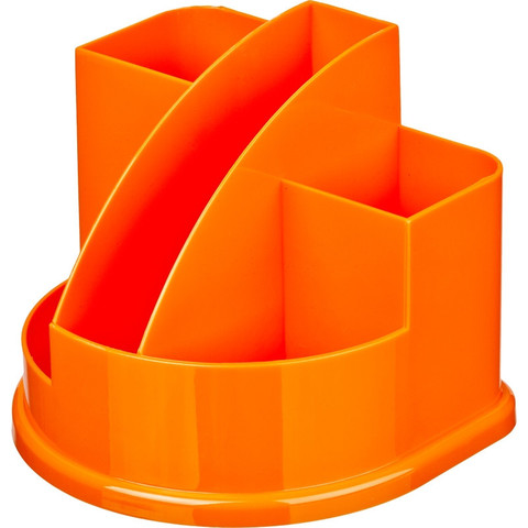 Подставка для канцелярских мелочей Attache Fantasy оранжевая 5 отделений