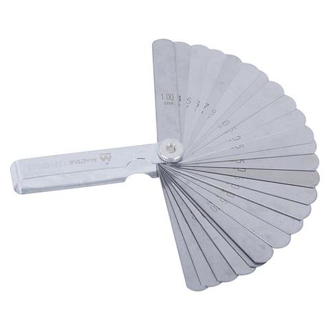 МАСТАК (127-00025) Набор щупов для проверки зазоров, 0.04 -1 мм, 25 предметов