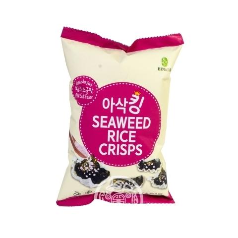 Чипсы рисовые с розовой солью 30гр Humanwell Корея