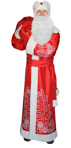 Костюм Дед Мороз Боярский красный