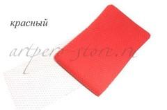 Вуаль шляпная Экстра, ширина 22 см., красный
