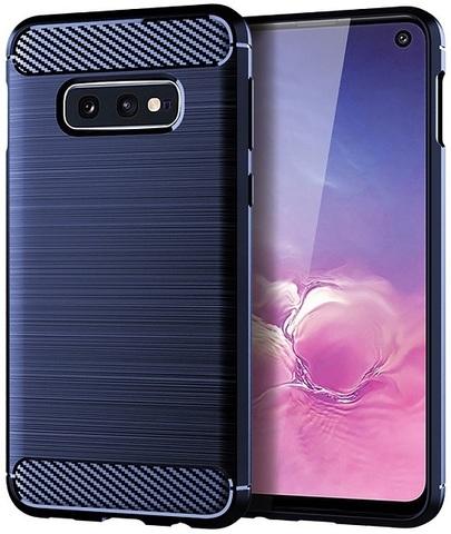 Чехол Samsung Galaxy S10e цвет Blue (синий), серия Carbon, Caseport