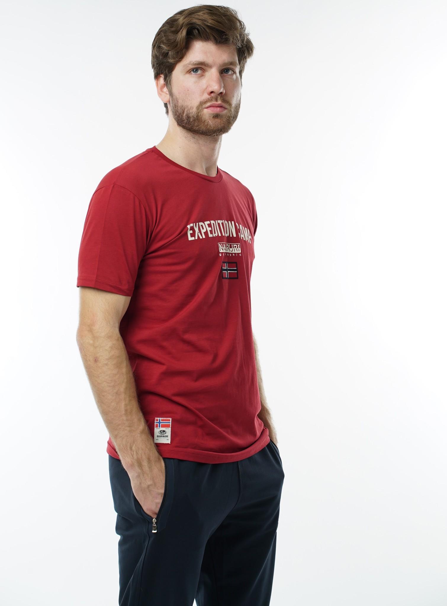 """Мужские футболки Футболка """"Napapijri"""" 1040 bordo DSC06007.JPG"""