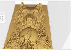 Силиконовый молд № 382 Панно  Волк
