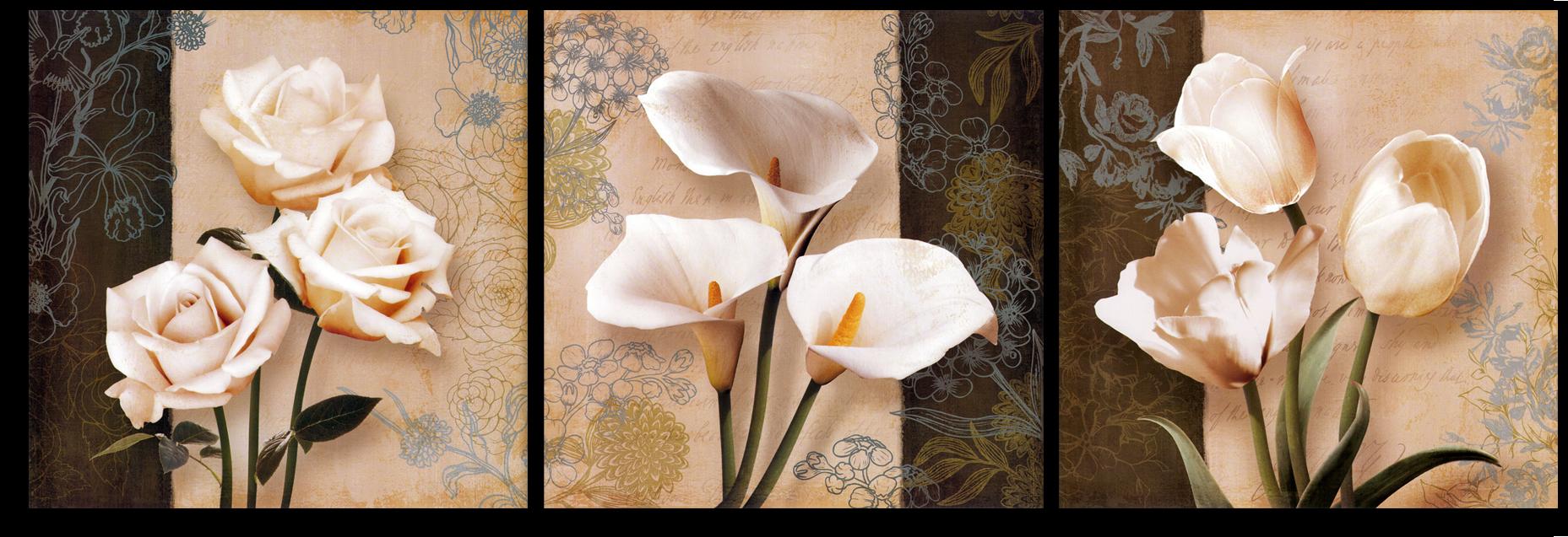 """Цветы Модульная картина """"Цветочное трио"""" М895.png"""