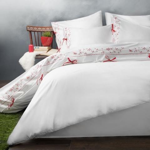 Комплект постельного белья сатин Лили белый