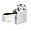 Зажигалка Zippo c покрытием Brushed Chrome, латунь/сталь, серебристая, матовая, 36х12x56 мм