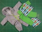 Комплект для куклы 38-43 см. ДИСКОНТ брак по ткани - Серый. Одежда для кукол, пупсов и мягких игрушек.
