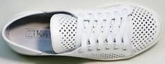 Летние женские кеды туфли на шнуровке женские ZiKo KPP2 Wite.